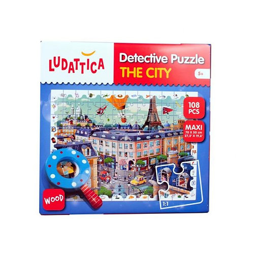 LUDATTICA DETECTIVE PUZZLE 108 PCS THE CITY