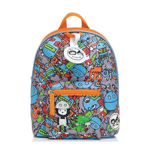 กระเป๋าเป้จูงเดินสำหรับเด็ก Zip & Zoe Robot Blue