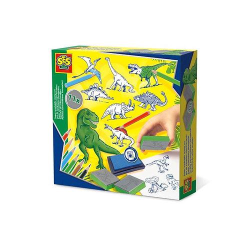 Super Washable Stamp Set - ชุดสแตมป์รูปไดโนเสาร์