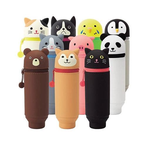 LIHIT Smart Fit Punilabo Stand Pen Case S-L ( กระเป๋าซิลิโคนตั้งได้ )