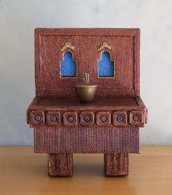 """Altar VIII Adorned, 12.5x9.75.6.75"""""""