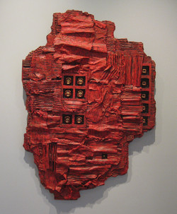 """Heavy Metal: Red, 33x23"""""""