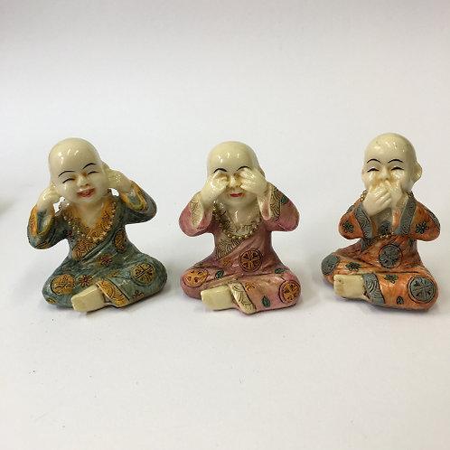 monnik horen zien en zwijgen beeldjes beeld asian spirit