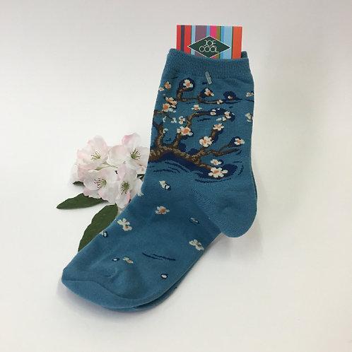 """Sokken """"Amandelbloesem"""" van Vincent van Gogh"""