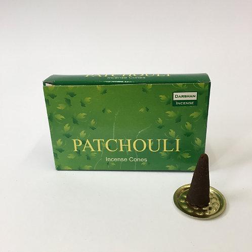 wierook kegeltjes puntjes rook geur asian spirit patchouli