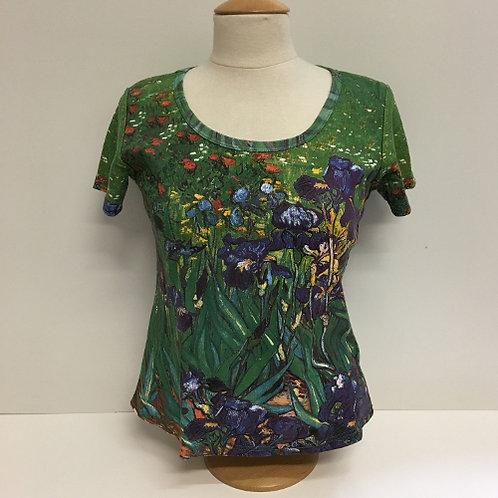 """T-Shirt Korte mouw """"De Irissen"""" van Vincent van Gogh"""