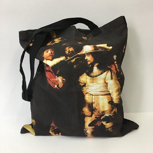 """Katoenen tas """"De Nachtwacht"""" Rembrandt"""