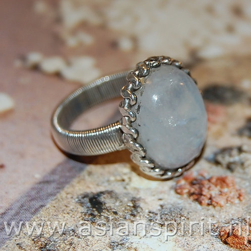ring zilver maansteen moonstone €35.00