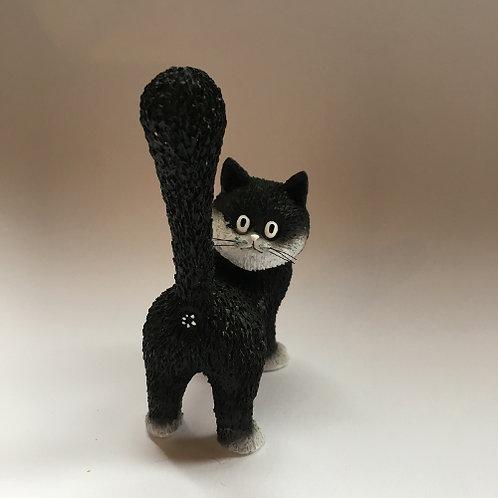 """De katten van Dubout  """"The third eye"""" het derde oog zwart wit"""