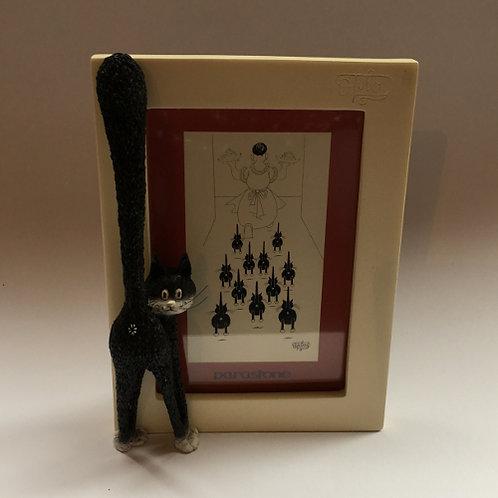 """De katten van Dubout  """"The third eye"""" het derde oog zwart wit fotolijst"""