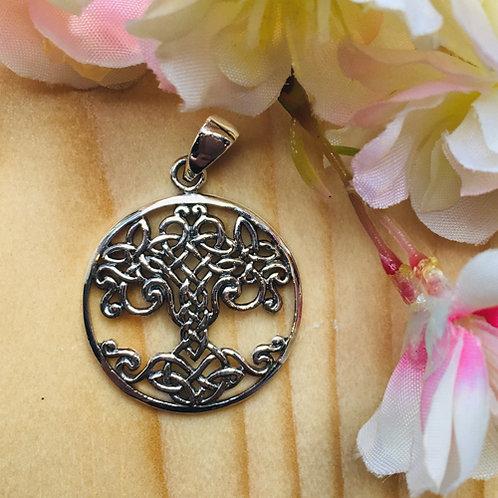 tree of life kelten keltisch zilver hanger levensboom boom leven