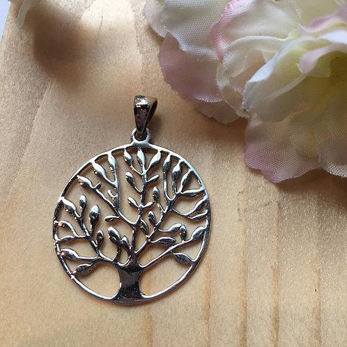 levensboom boom tree life hanger zilver