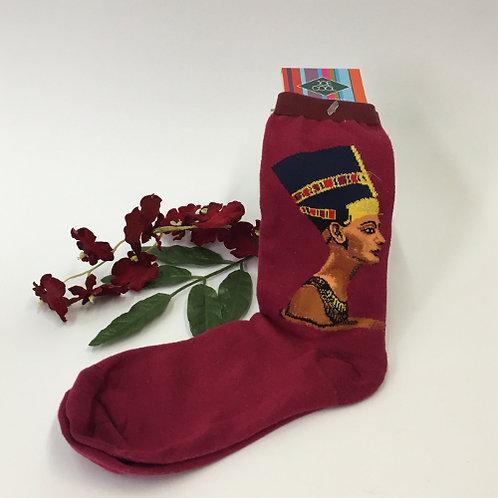 Sokken Nefertiti Egypte  vrouw farao rood