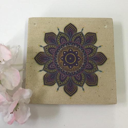 """Wierookbrander """"Mandala incense burner paars"""