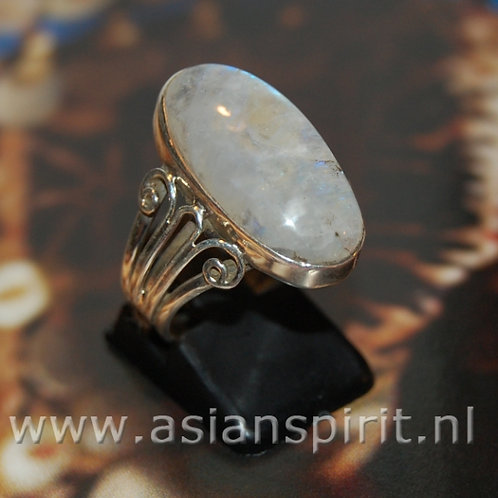 maansteen ring zilver moonstone