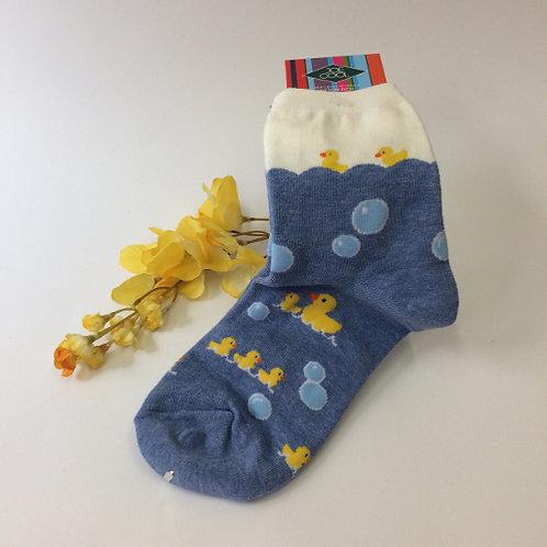 sokken eendjes in het water geel blauw