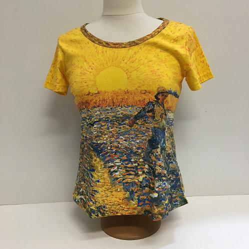 """T-Shirt Korte mouw """"De Zaaier"""" geel van Gogh"""