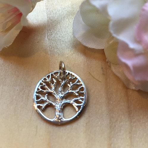 boom leven levensboom hanger zilver