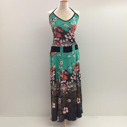 Long Dress: met bloemen en vlinders