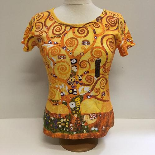 """T-Shirt Korte mouw """"De Levensboom"""" van Gustav Klimt"""