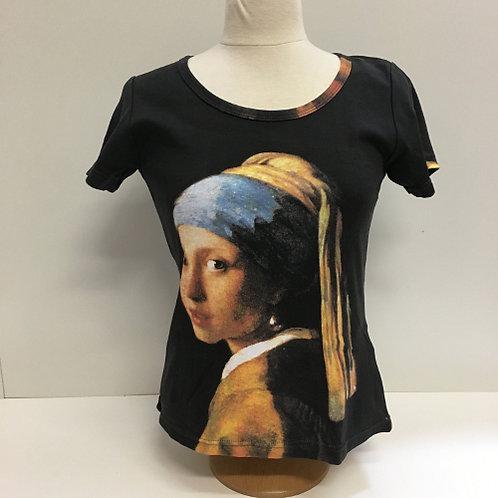 """T-Shirt Korte mouw """"Het Meisje met de Parel"""