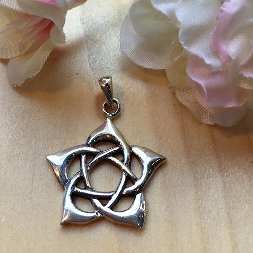 lotus bloem flower hanger zilver