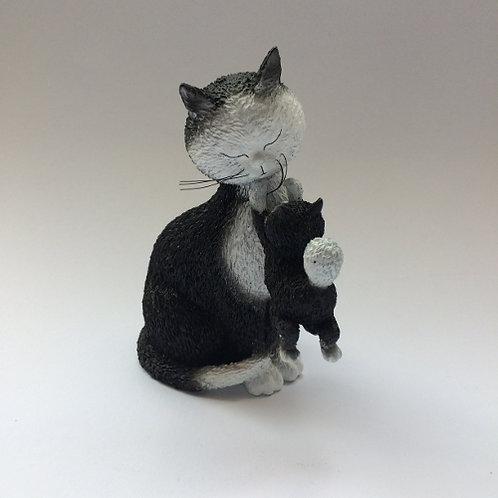 De katten van Dubout  met mama poes zwart wit