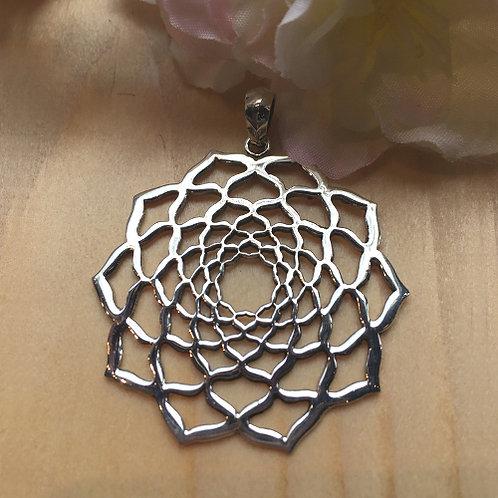 lotus bloem flower zilver hanger