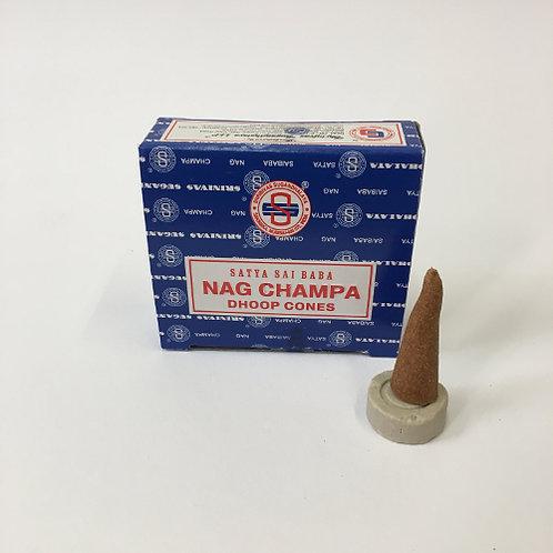 wierook nag champa blauw puntjes kegel kegeltjes rook geur lekker asian spirit