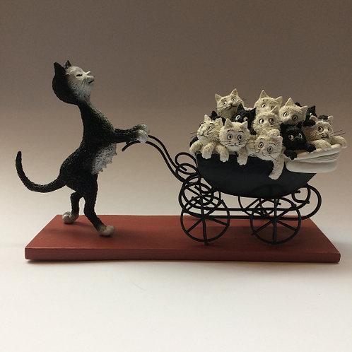 """De katten van Dubout  """"Proud mama"""""""
