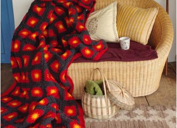 Marigold Granny Squares Blanket