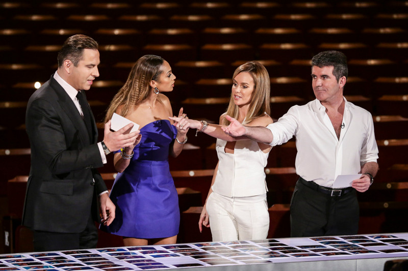 Simon Cowell, Amanda Holden, Alesha Dixon and David Walliams decide who go through to the Britain's Got Talent live shows