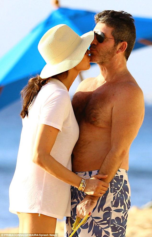 Simon Cowell & Lauren Silverman in Barbados 2015