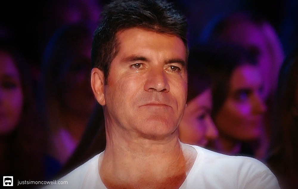 Simon Cowell crying