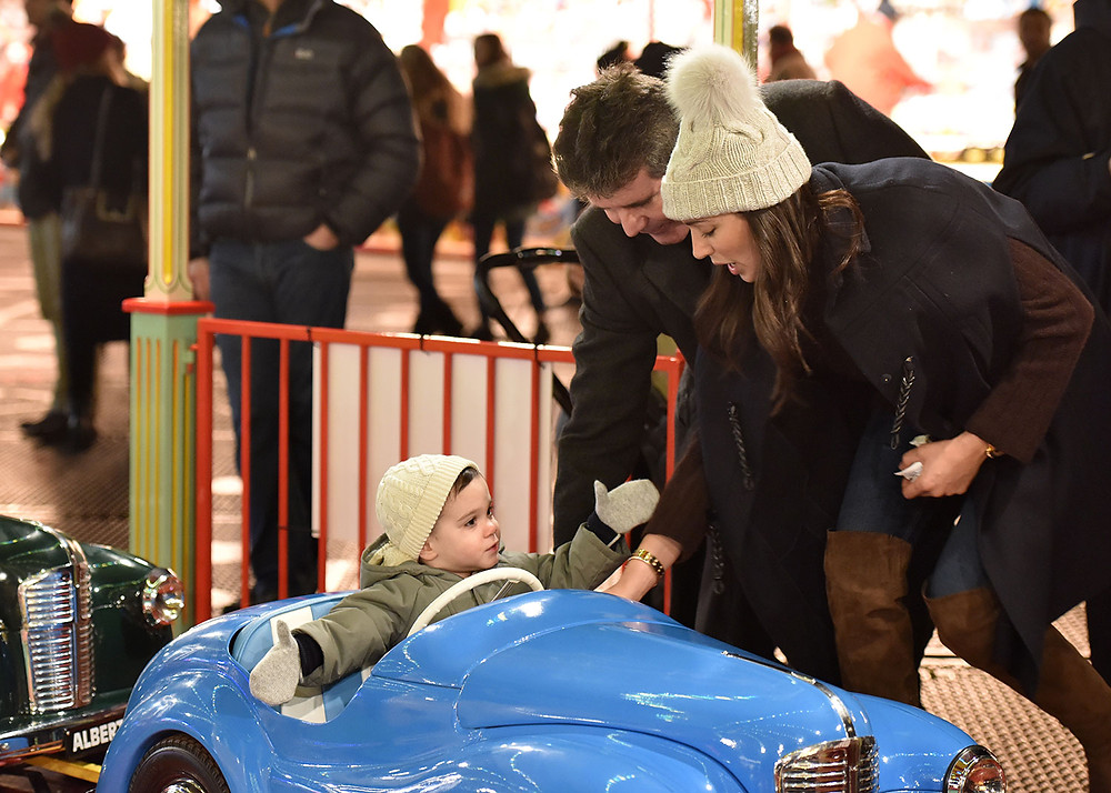Simon Cowell, Lauren Silverman and son Eric at Winter Wonderland