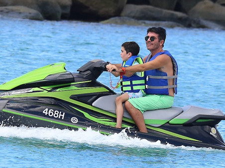 First Photos of Simon Cowell on vacation in Barbados