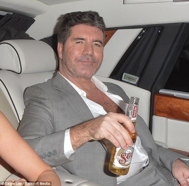 Simon Cowell leaving the X Factor Final