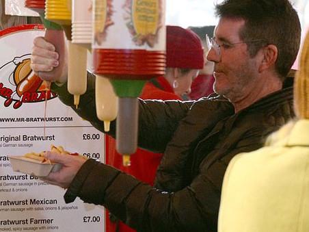 Simon Cowell and Lauren take Eric to Winter Wonderland