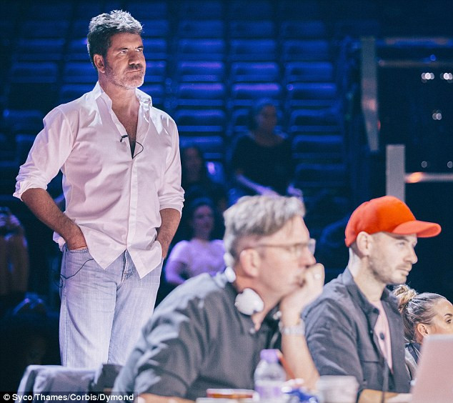 Simon Cowell at X Factor Rehearsals