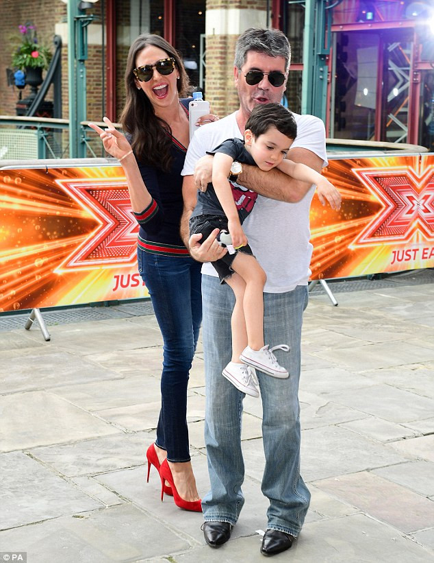 Simon Cowell and Lauren Silverman with their son Eric