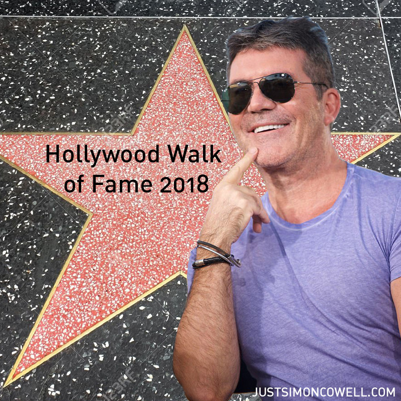 Simon Cowell awarded a Hollywood Walk of Fame star in 2018