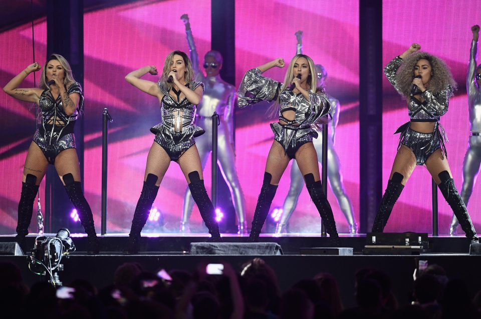 Little Mix perform at the BRITs