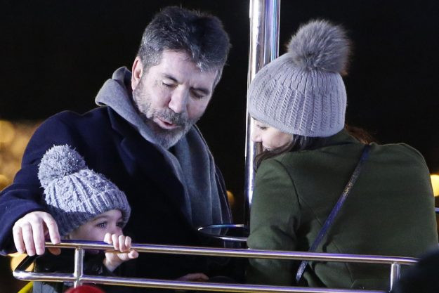 Simon Cowell, Lauren Silverman and Eric at Winter Wonderland