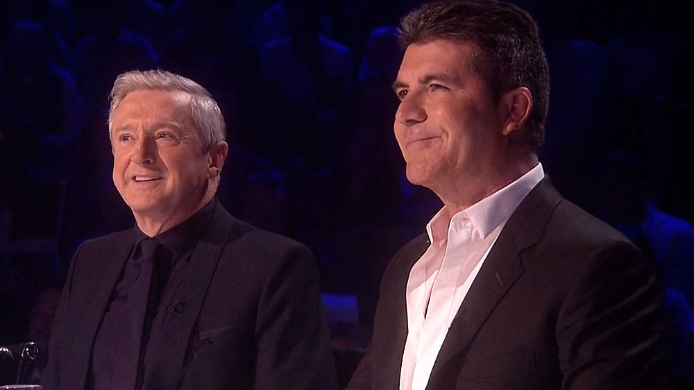 Simon Cowell and Louis Walsh on The X Factor