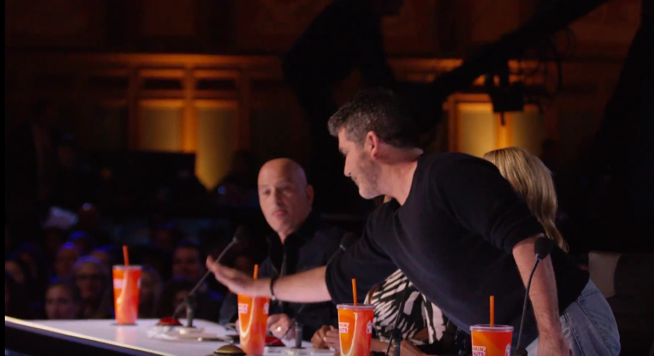 Simon Cowell presses his Golden Buzzer on America's Got Talent