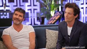 Simon Cowell with Louis Tomlinson