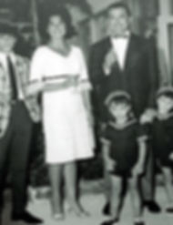 simon cowell with his mother, father and brothers