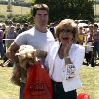 simon cowell with his mum Julie at an RSPCA dog show