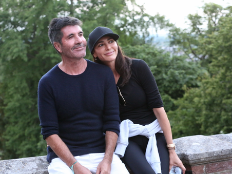 Simon Cowell and Lauren Silverman complete a 10k charity walk for Shooting Star Children's Hospices