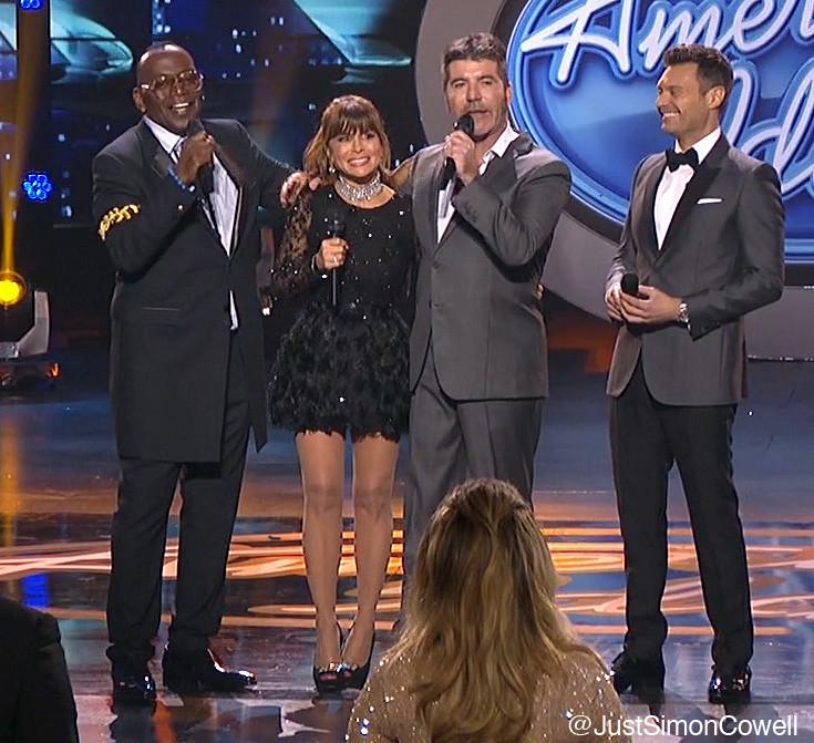Simon Cowell, Paula Abdul, Randy Jackson & Ryan Seacrest on American Idol finale